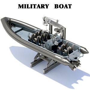 3D inboard boat model