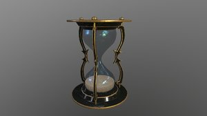 3D old hourglass