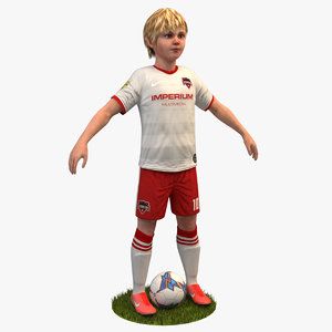soccer player kid 4k 3D model