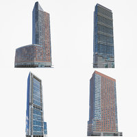 high-rise toronto chicago 3D model