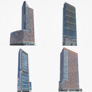 high-rise toronto chicago 3D model