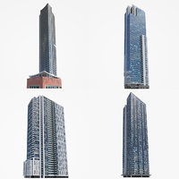 high-rise toronto milwaukee 3D model