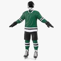 3D model hockey equipment green