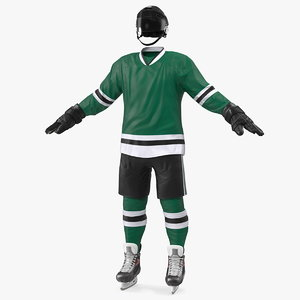 3D model hockey equipment green