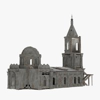 pubg church 3D model