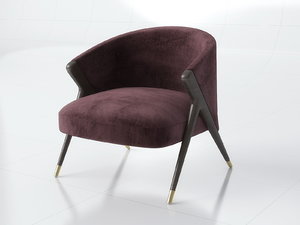 3D accent chair model