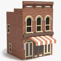 3D barbershop pbr polys