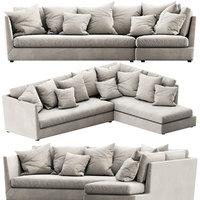 flexform victor chaise lounge 3D