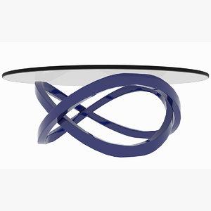 minimalist infinite line table 3D model