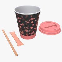 cup coffee lid 3D model