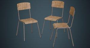 school chair 1b 3D model