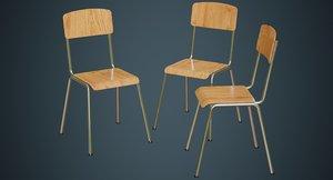 school chair 1a 3D