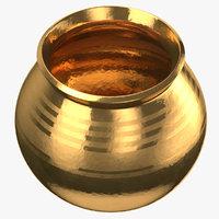 3D gold pot model