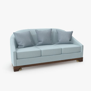 junket curved sofa 3D model