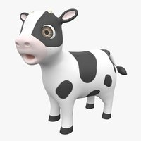 Cartoon Baby Cow