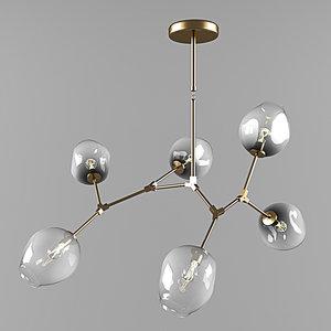 branching bubble lamps 3D model