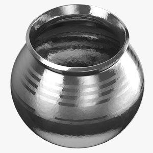3D silver pot model