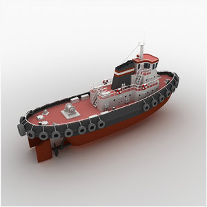 tug boat tugboat 3D