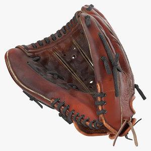 3D baseball glove model