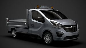 3D model opel vivaro tipper 2014