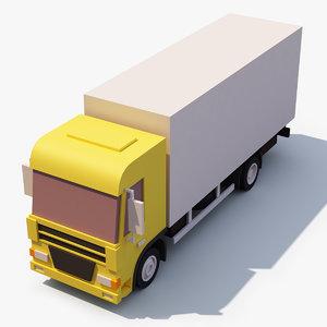 3D stylized box truck