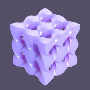shape sculpture cube 3D model