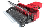 3D model combine threshing header