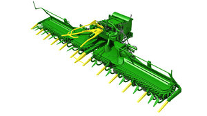 3D combine threshing header