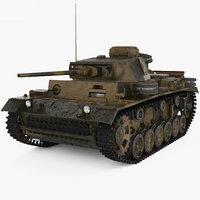 3D panzer iii ii