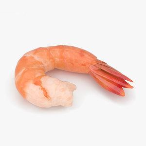 3D shrimp food seafood