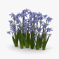 flowers plant nature 3D