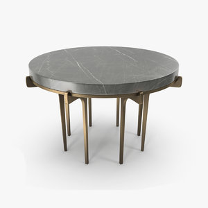 marble coffee table 3D model