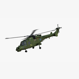 westland lynx wildcat british army 3D model
