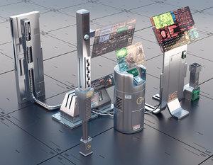 3D model sci fi asset