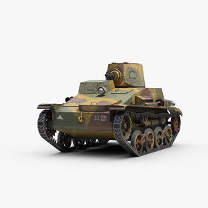 ww2 type 94 tankette 3D
