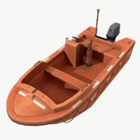 3D real-time rigid rescue boat model