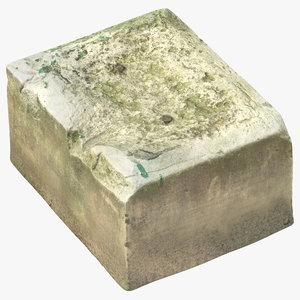 old concrete block 01 3D model