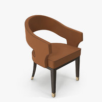 offices guest chair 3D model