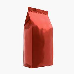 3D model pack package bag