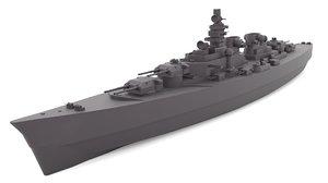 3D h-class battleship