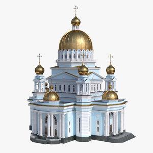 realistic temple 3D model