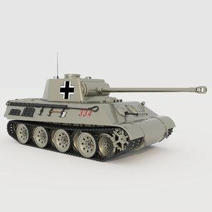 german panzer mk-v 3D model