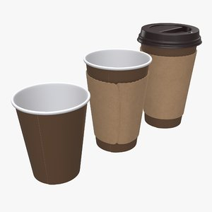 cup coffee paper 3D