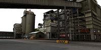 cement factory 3d model