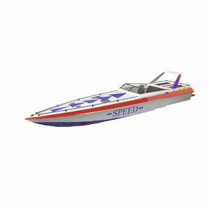 3D speedboat boat pbr