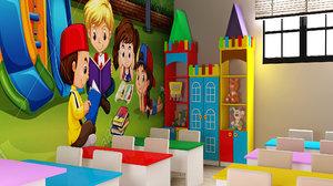 kids classroom ganclik 3D