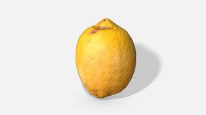 fruit lemon - photoscanned model