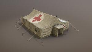 military tent 01 medicaldesert 3D