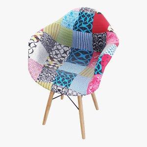 soft arm chair 3D model