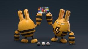 elekid robot 3D model